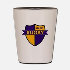 Rugby Shield Purple Gold Shot Glass