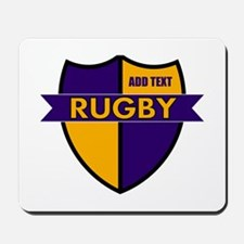 Rugby Shield Purple Gold Mousepad