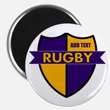 Rugby Shield Purple Gold Magnet