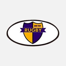 Rugby Shield Purple Gold Patches