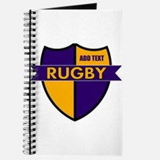 Rugby Shield Purple Gold Journal
