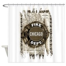 Chicago-21.png Shower Curtain