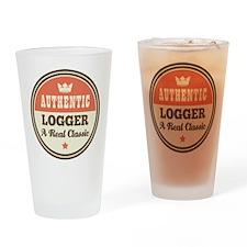 Logger Vintage Drinking Glass