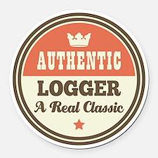 Logger Vintage Round Car Magnet