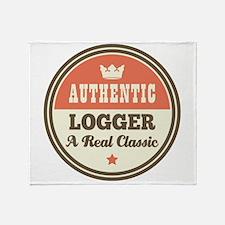 Logger Vintage Throw Blanket