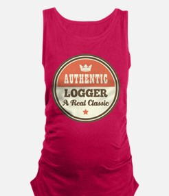 Logger Vintage Maternity Tank Top