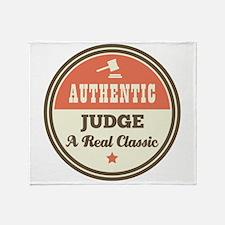 Judge Vintage Throw Blanket