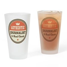 Journalist Vintage Drinking Glass