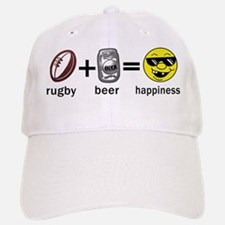 Rugby Plus Beer Equals Happiness Baseball Baseball Cap