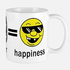 Rugby Plus Beer Equals Happiness Mug