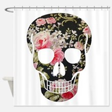 ROSES SKULL Shower Curtain