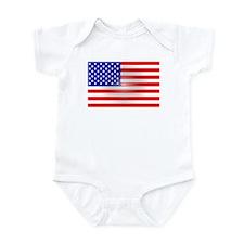 3-D Flag Infant Bodysuit