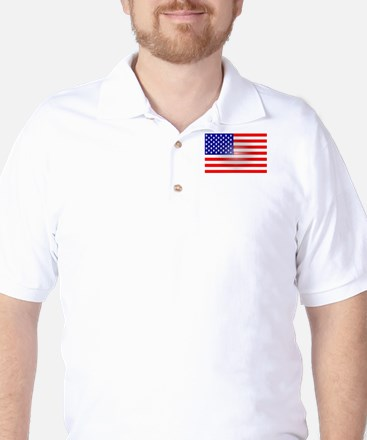 3-D Flag Golf Shirt
