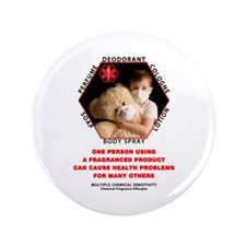 "Cute Allergy awareness 3.5"" Button"