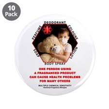 """Cute Allergies 3.5"""" Button (10 pack)"""