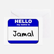 hello my name is jamal  Greeting Cards (Package of