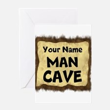 Custom Man Cave Greeting Cards