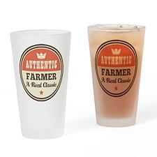 Farmer Vintage Drinking Glass