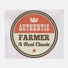 Farmer Vintage Throw Blanket