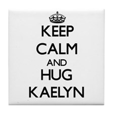 Keep Calm and HUG Kaelyn Tile Coaster