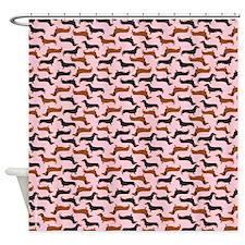 Dachshound Pink Shower Curtain