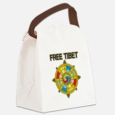 Free Tibet Wheel Canvas Lunch Bag