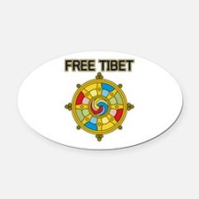 Free Tibet Wheel Oval Car Magnet