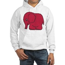 Funny cross-stitch red elephant Hoodie