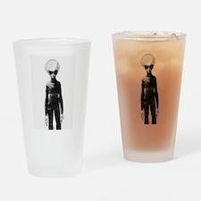 Skinny Bob Grey Alien Drinking Glass