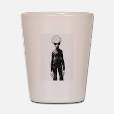 Skinny Bob Grey Alien Shot Glass
