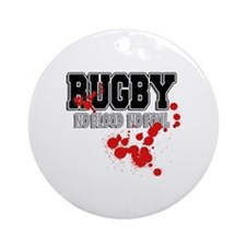 Rugby No Blood No Foul Ornament (Round)