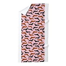 Dachshound Pink Beach Towel