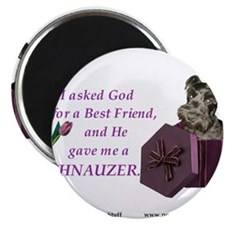 I Asked God -RecMag -Schnauzer,Black Magnets