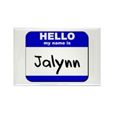 hello my name is jalynn Rectangle Magnet