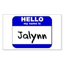 hello my name is jalynn Rectangle Decal