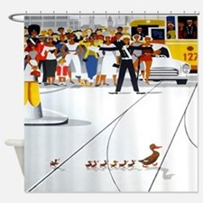 Copenhagen Ducks, Vintage Poster Shower Curtain