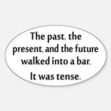 Grammar Joke Sticker (Oval)