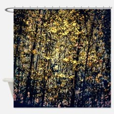 Dreamy Night Forest Shower Curtain
