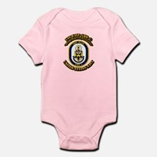 USS Wasp (LHD-1) With text Infant Bodysuit