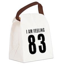 I am feeling 83 Canvas Lunch Bag