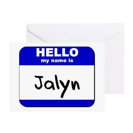 hello my name is jalyn Greeting Cards (Package of