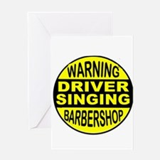BARBERSHOP CIRCLE Greeting Cards