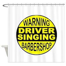 BARBERSHOP CIRCLE Shower Curtain