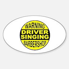 BARBERSHOP CIRCLE Decal