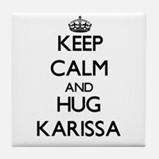 Keep Calm and HUG Karissa Tile Coaster