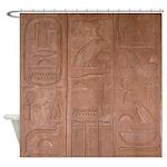 Hieroglyphic Shower Curtain