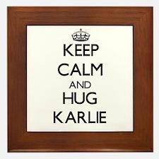 Keep Calm and HUG Karlie Framed Tile