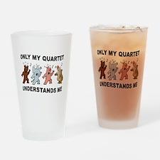 ANIMAL QUARTET Drinking Glass