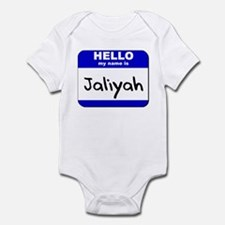 hello my name is jaliyah  Infant Bodysuit