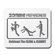 Zombie Preparedness Slow Clumsy Grey 3D Mousepad